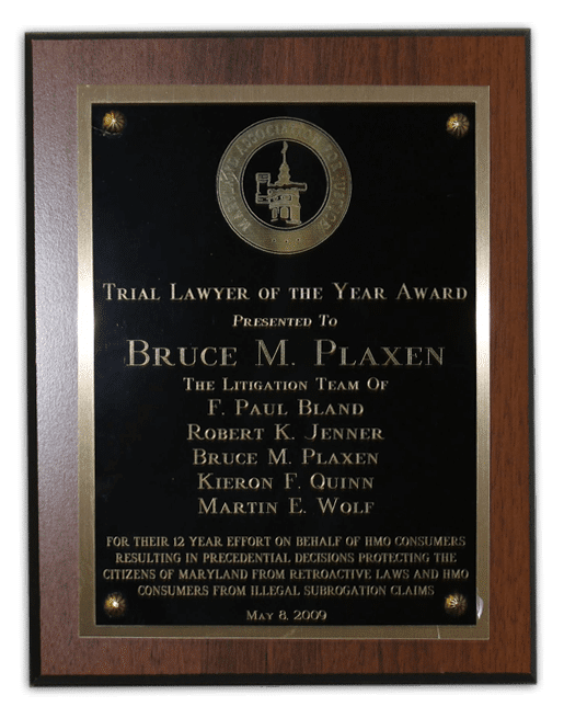 Bruce Plaxen Trial Lawyer of the Year