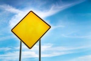 Reflective road signs dangerous