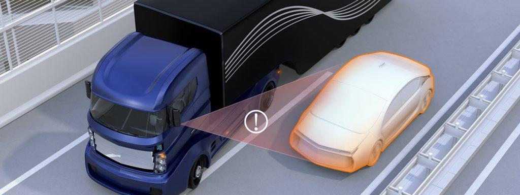 Truck blind spot accident